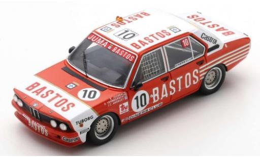 Bmw 530 1/43 Spark i (E12) No.10 Bastos 24h Spa Francorchamps 1981 E.Joosen/D.Vermeersch/J-C.Andruet diecast model cars