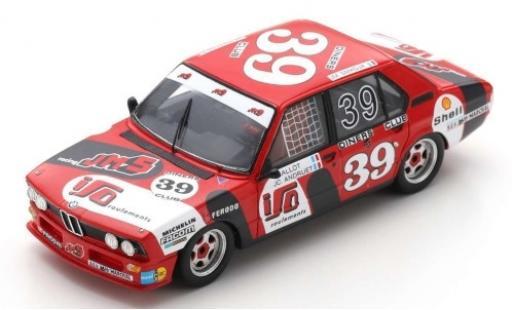 Bmw 530 1/43 Spark i (E12) No.39 JMS Racing Team 24h Spa Francorchamps 1980 C.Ballot-Lena/J-C.Andruet/J-M.Smadja diecast model cars