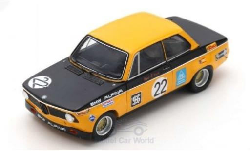 Bmw Alpina 1/43 Spark 2002 No.22 Tourenwagen EM GP Brno 1971 H-J.Stuck diecast model cars