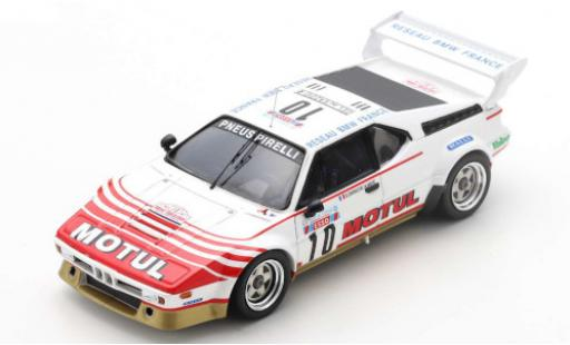 Bmw M1 1/43 Spark No.10 Equipe France Motul Tour de Corse 1982 B.Darniche/A.Mahe diecast model cars