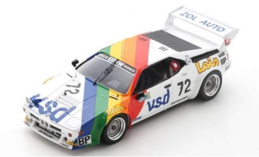Bmw M1 1/43 Spark No.72 Zol'Auto VSD 24h Le Mans 1981 P-F.Rousselot/F.Servanin/L.Ferrier diecast model cars