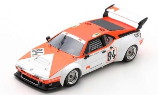 Bmw M1 1/43 Spark No.84 Motorsport GmbH Marlboro 24h Le Mans 1980 avec Decals H-J.Stuck/D.Lacaud/H-G.Bürger coche miniatura