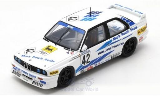 Bmw M3 1/43 Spark (E30) No.42 WTCC Bathurst 1987 J.Cecotto/G.Brancatelli diecast model cars