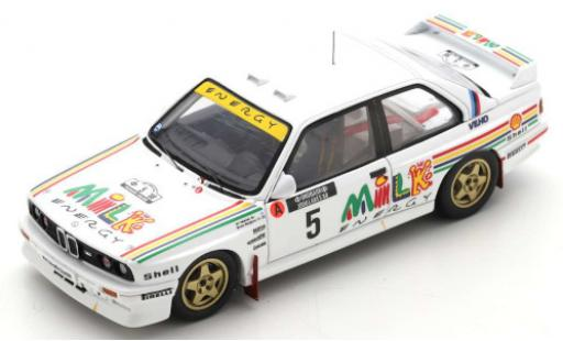 Bmw M3 1/43 Spark (E30) No.5 Prodrive Milk Energy Rallye WM Rallye Finnland 1988 A.Vatanen/B.Berglund diecast model cars