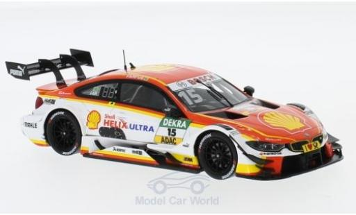 Bmw M4 1/43 Spark DTM No.15 Team RMG S DTM Hockenheim 2017 A.Farfus miniature