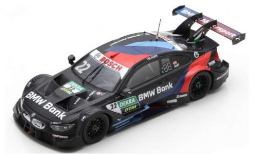 Bmw M4 1/43 Spark DTM No.22 Team RMR Bank DTM Hockenheim 2020 L.Auer diecast model cars