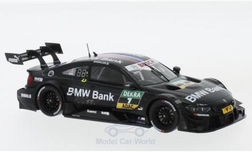 Bmw M4 1/43 Spark DTM No.7 Team RBM Bank DTM Hockenheim 2017 B.Spengler miniature