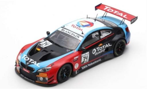 Bmw M6 1/43 Spark GT3 No.34 Walkenhorst Motorsport Total 24h Spa 2019 M.Jensen/C.Krognes/N.Catsburg diecast model cars