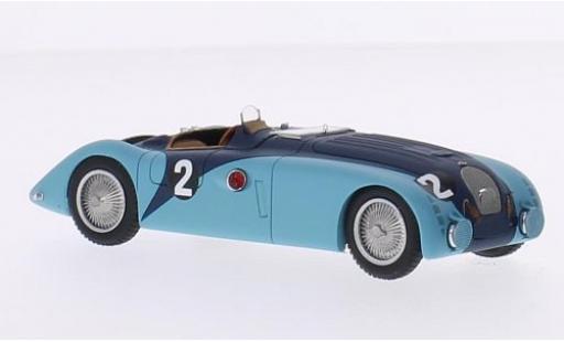 Bugatti 57 1/43 Spark Type G RHD No.2 24h Le Mans 1937 J-P.Wimille/R.Benoist diecast model cars
