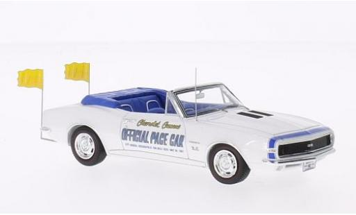 Chevrolet Camaro 1/43 Spark Convertible Pace Car Indianapolis 500 blanche 1967 miniature