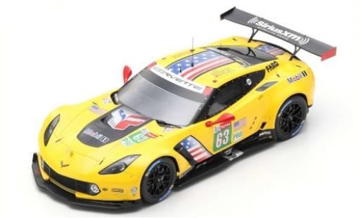 Chevrolet Corvette 1/43 Spark C7.R No.63 Racing 24h Le Mans 2019 J.Magnussen/A.Garcia/M.Rockenfeller miniature