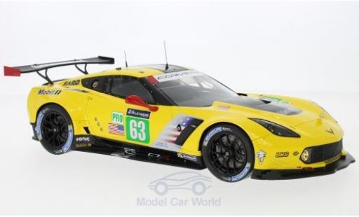 Chevrolet Corvette C7 1/18 Spark C7.R No.63 Racing - GM 24h Le Mans 2017 J.Magnussen/A.Garcia/J.Taylor miniature