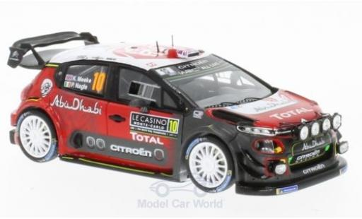Citroen C3 1/43 Spark WRC No.10 Total Abu Dhabi World Rally Team Rallye WM Rallye Monte Carlo 2018 K.Meeke/P.Nagle miniature