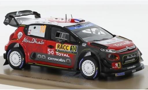 Citroen C3 1/43 Spark WRC No.10 Rallye WM Rallye Catalunya 2018 S.Loeb/D.Elena miniature