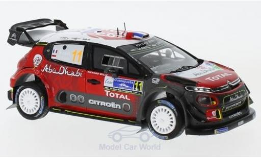 Citroen C3 1/43 Spark WRC No.11 Total Abu Dhabi World Rally Team Rallye WM Rallye Mexico 2018 S.Loeb/D.Elena diecast model cars