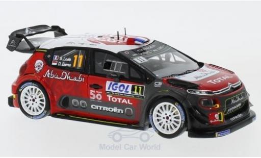 Citroen C3 1/43 Spark WRC No.11 Total Abu Dhabi WRT Rallye WM Rallye Tour de Corse 2018 S.Loeb/D.Elena miniature
