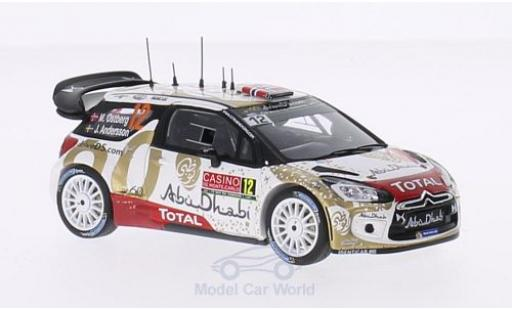 DS Automobiles DS3 1/43 Spark WRC No.12 Total Abu Dhabi WRT Total Rallye Monte-Carlo 2015 M.Ostberg/J.Andersson miniature