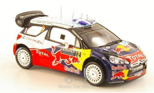 DS Automobiles DS3 Racing 1/43 Spark Citroen WRC No.2 Citroen Racing Red Bull Total WRC Rallye Acropolis 2011 S.Ogier/J.Ingrassia miniature