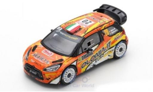 DS Automobiles DS3 1/43 Spark Citroen WRC No.20 DreamOne Racing WRC Rally Monte Carlo 2019 M.Miele/L.Beltrame miniature