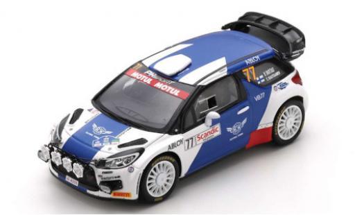 DS Automobiles DS3 1/43 Spark Citroen WRC No.77 PH Sport Arctic Lapland Rally 2020 V.Bottas/T.Rautiainen diecast model cars