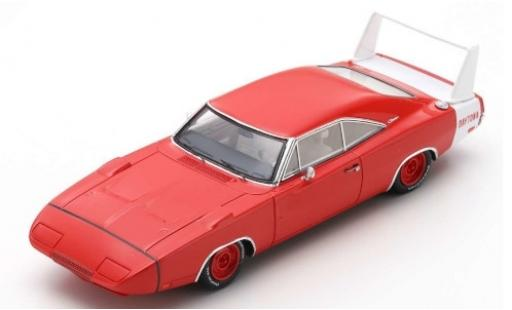 Dodge Charger 1/43 Spark Daytona rouge/blanche 1969 miniature