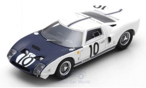 Ford GT 1/43 Spark RHD No.10 24h Le Mans 1964 P.Hill/B.McLaren miniatura