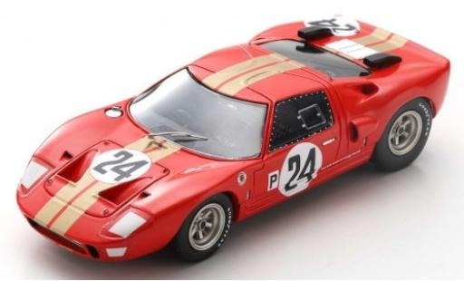 Ford GT40 1/43 Spark AMR2 RHD No.24 Alan Mann Racing 12h Sebring 1966 G.Hill/J.Stewart diecast model cars