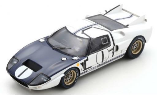 Ford GT40 1/43 Spark MK II RHD No.1 24h Le Mans 1965 K.Miles/B.McLaren miniature