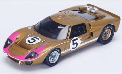 Ford GT40 1/18 Spark MkII No.5 24h Le Mans 1966 R.Bucknum/D.Hutcherson diecast model cars