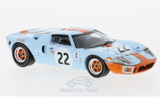 Ford GT 40 1/43 Spark 40 No.22 12h Sebring 1969 J.Ickx/J.Oliver miniature