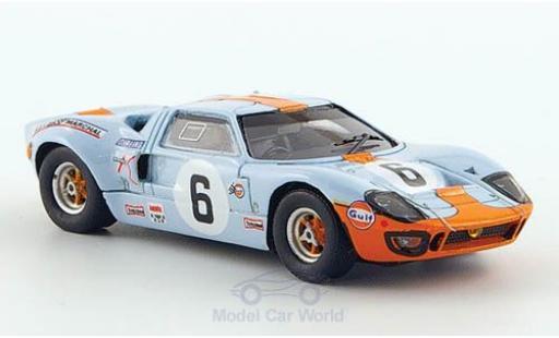 Ford GT40 1/87 Spark No.6 24h Le Mans 1969 J.Ickx/J.Oliver diecast model cars