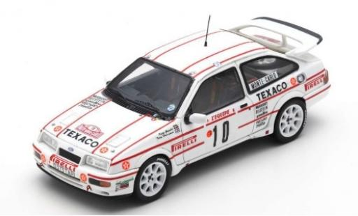 Ford Sierra 1/43 Spark RS Cosworth No.10 Texaco Rallye Monte Carlo 1987 K.Grundel/T.Harryman diecast model cars