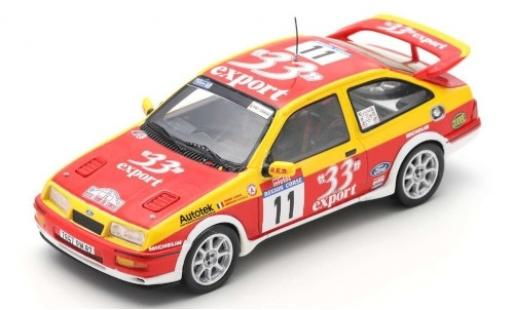 Ford Sierra 1/43 Spark RS Cosworth No.11 33 Export Rallye WM Rallye de France 1987 D.Auriol/B.Occelli diecast model cars