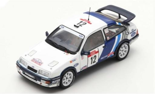 Ford Sierra 1/43 Spark RS Cosworth No.12 Rallye WM Tour de Corse 1988 C.Sainz/L.Moya miniature