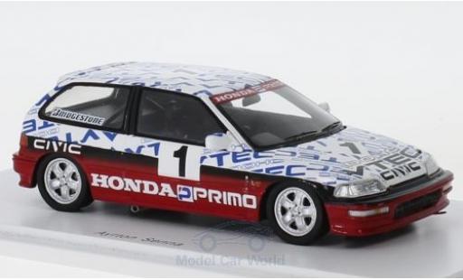 Honda Civic 1/43 Spark (EF9) Gr. N RHD No.1 Suzuka Test 1990 A.Senna diecast model cars