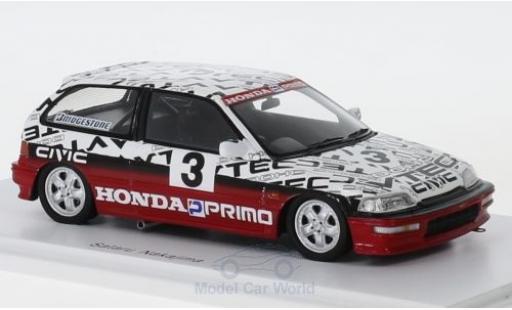 Honda Civic 1/43 Spark (EF9) Gr. N RHD No.3 Suzuka Test 1990 S.Nakajima diecast model cars