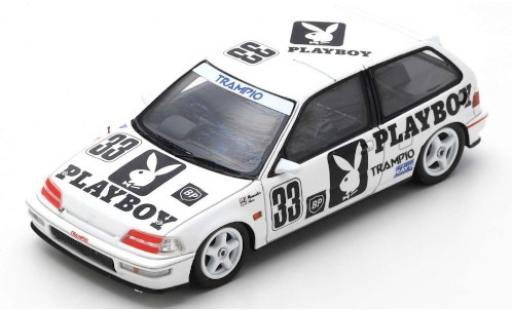 Honda Civic 1/43 Spark (EF9) RHD No.33 Playboy JTC Autopolis 1991 Y.Muramatsu/T.Hara miniature