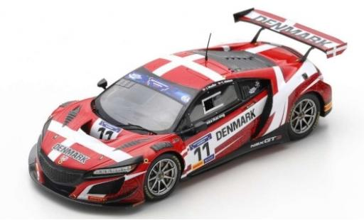Honda NSX 1/43 Spark GT3 No.11 Racing Team Denmark FIA Motorsport Games GT Cup Vallelunga 2019 J.Möller/C.Nielsen diecast model cars