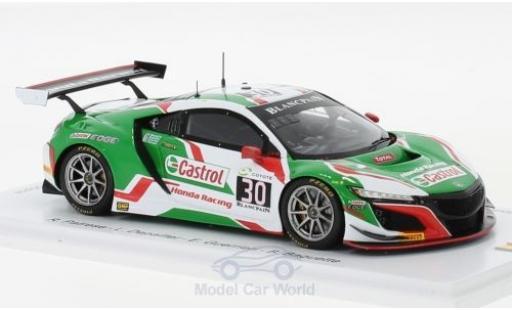 Honda NSX 1/43 Spark GT3 No.30 Castrol Racing Castrol 24h Spa 2018 R.Patrese/P.Depailler/E.Guerrieri/B.Baguette miniature