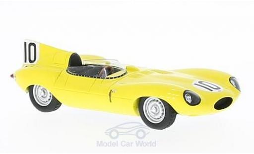 Jaguar D-Type 1/43 Spark RHD No.10 24h Le Mans 1955 J.Claes/J.Swaters miniature