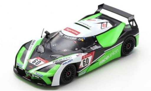 Aston Martin V8 Vantage GT4 1/43 Spark KTM X-Bow GT4 No.60 RaceUnion 24h Nürburgring 2019 S.Brodmerkel/T.Nytröen/K.Teichmann diecast model cars