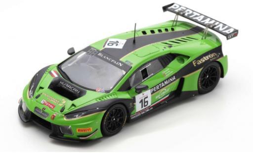 Lamborghini Huracan 1/43 Spark GT3 No.16 GRT Grasser Racing Team 24h Spa 2016 M.Bortolotti/J.Bleekemolen/R.Ineichen diecast model cars