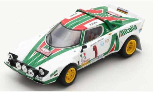 Lancia Stratos 1/43 Spark HF No.1 Alitalia Rallye WM Rallye Monte Carlo 1977 S.Munari/S.Maiga miniature