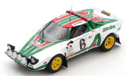 Lancia Stratos 1/43 Spark HF No.6 Alitalia Rallye WM Rallye Monte Carlo 1976 B.Waldegard/H.Thorszelius miniature