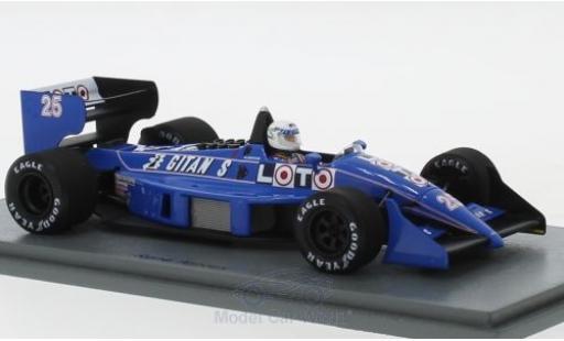 Ligier JS3 1/43 Spark 1 No.25 Gitanes Formel 1 GP Monaco 1988 mit Decals R.Arnoux miniature