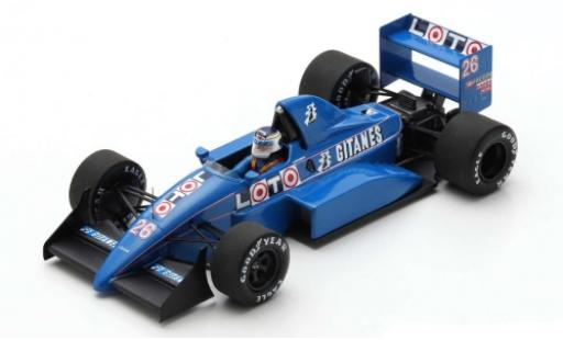 Ligier JS3 1/43 Spark 1 No.26 Gitanes Formel 1 GP Italien 1988 v�hicule de test S.Johansson modellautos