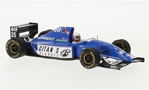 Ligier JS3 1/43 Spark 9 No.25 Gitanes Formel 1 GP South Afrika 1993 avec Decals M.Blundell miniature