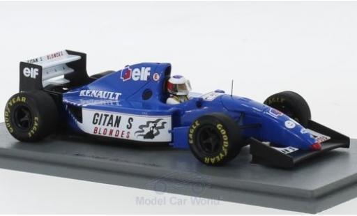 Ligier JS3 1/43 Spark 9B Gitanes Formel 1 Test Estoril 1994 mit Decals M.Schumacher miniature