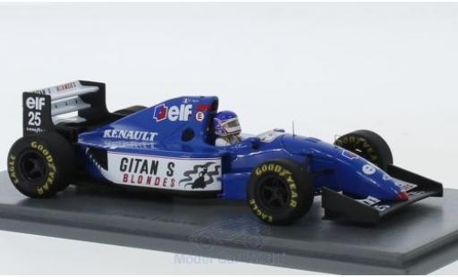 Ligier JS3 1/43 Spark 9B No.25 Gitanes Formel 1 GP Australien 1994 mit Decals F.Lagorce miniature