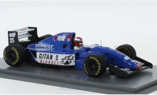 Ligier JS3 1/43 Spark 9B No.25 Gitanes Formel 1 GP Europa 1994 mit Decals J.Herbert miniature